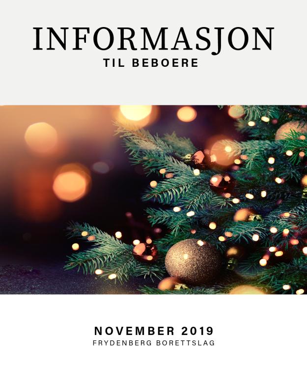 Informasjonsskriv, november 2019